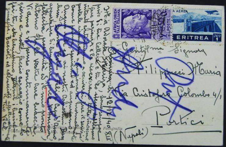 Foto-Postal Militar de Asmara en África