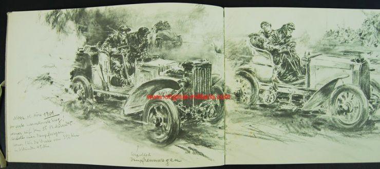 """Libro """"Mercedes Benz Skizzenbuch"""" de Hans Liska, 1951"""