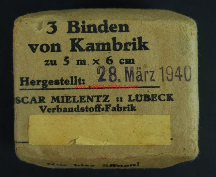 WH/ Paquete con 3 Vendas Asépticas de 1940