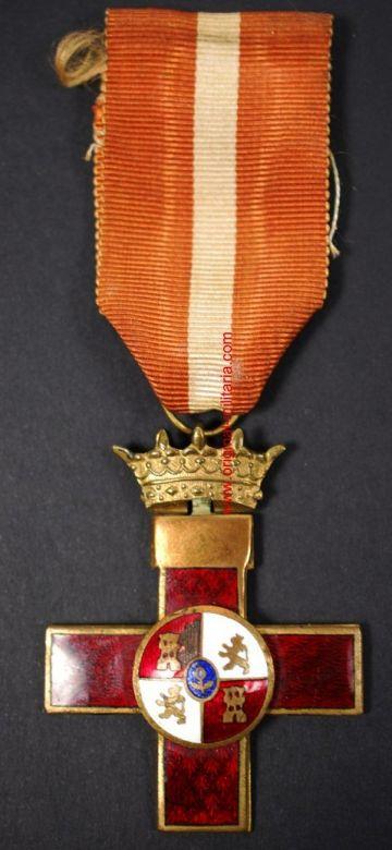 Cruz al Mérito Militar de 1ª clase Distintivo Rojo