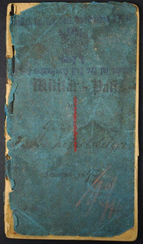 Pasaporte Militar de Soldado Prusiano del 13 Regimiento de Infantería
