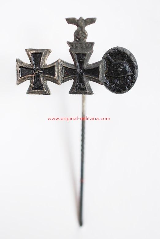 Miniatura con 3 Condecoraciones de WW2