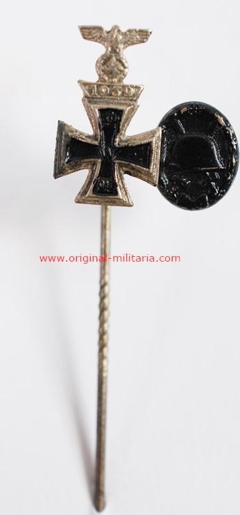 Miniatura con Spange y Distintivo de Herido WW1