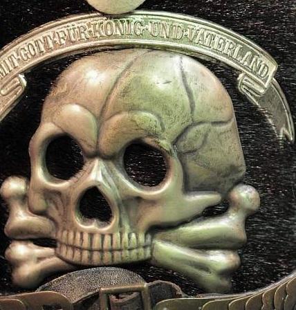 Calavera para el Kolpak de Húsares Prusianos, Tombac