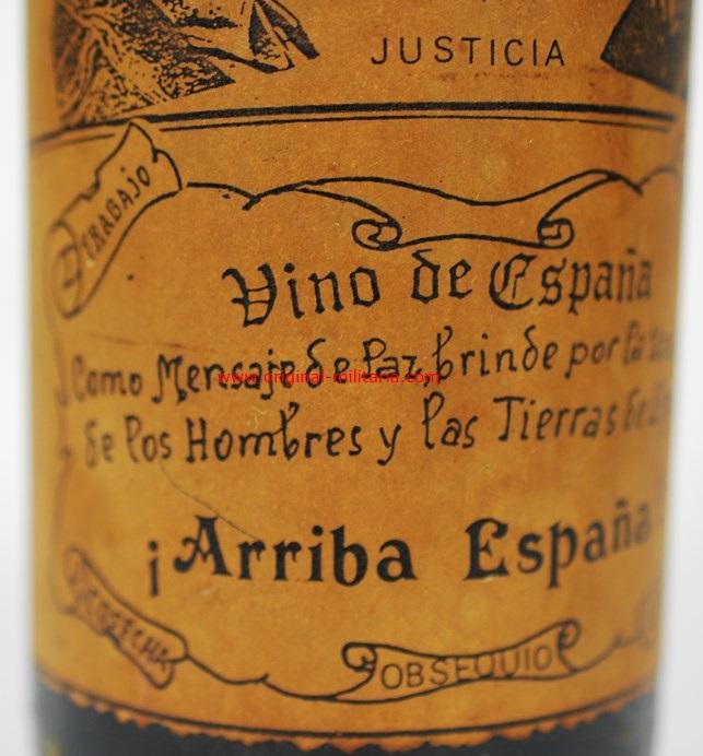 Botella de Vino de Franco y Primo de Rivera