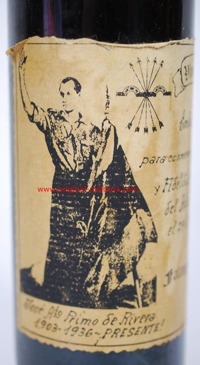 Botella de Vino de Primo de Rivera