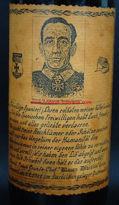 División Azul/ Botella de Vino del General Muñoz Grandes