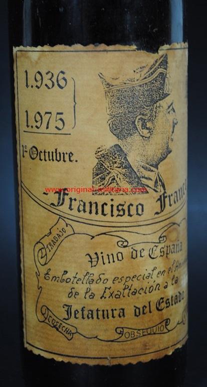 Botella Conmemorativa de Franco 1936-1975
