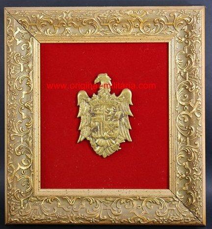 Escudo de España de Bronce enmarcado, Guerra Civil.