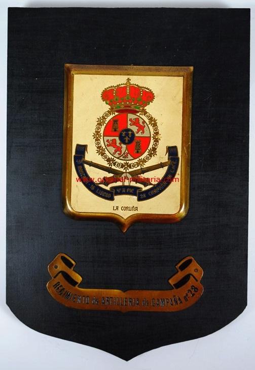 Metopa del Regimiento de Artillería de Campaña nº 28 de la Coruña