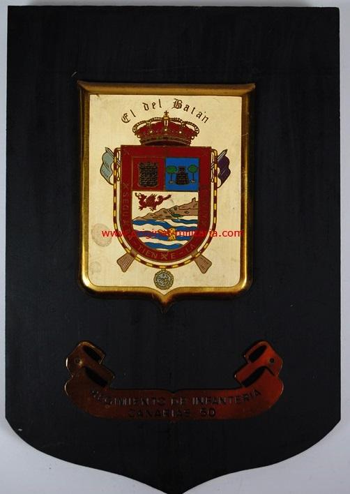 Metopa del Regimiento de de Infantería Canarias 50