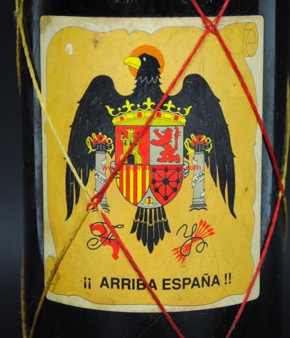Botella de Vino Conmemorativa de Franco