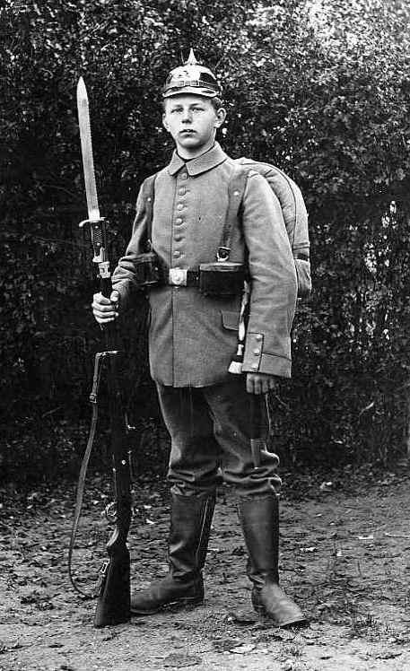 """Bayoneta Erfurt de Infantería Imperial Alemana """"Butcher"""", 1915."""
