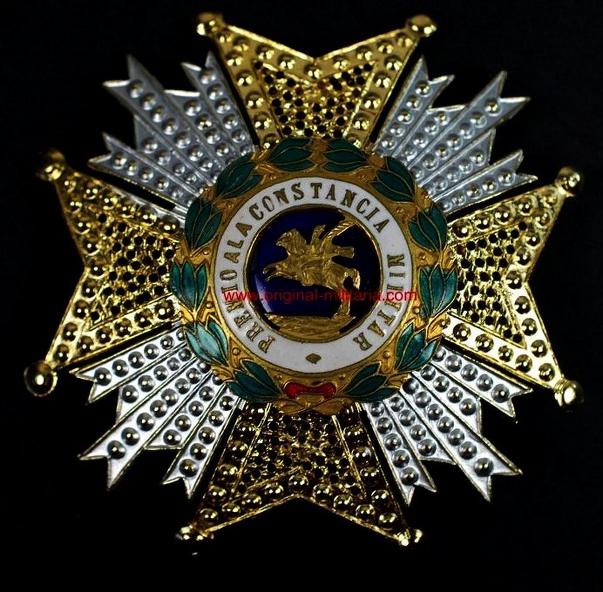 Rara Variante de la Real y Militar Orden de San Hermenegildo, Fabricación Francesa.