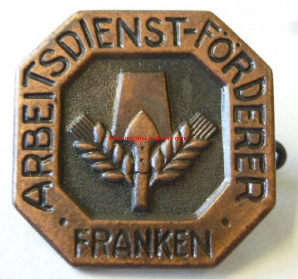 """RAD/ Insignia """"Abzeichen Arbeitsdienst-Förderer Franken"""""""