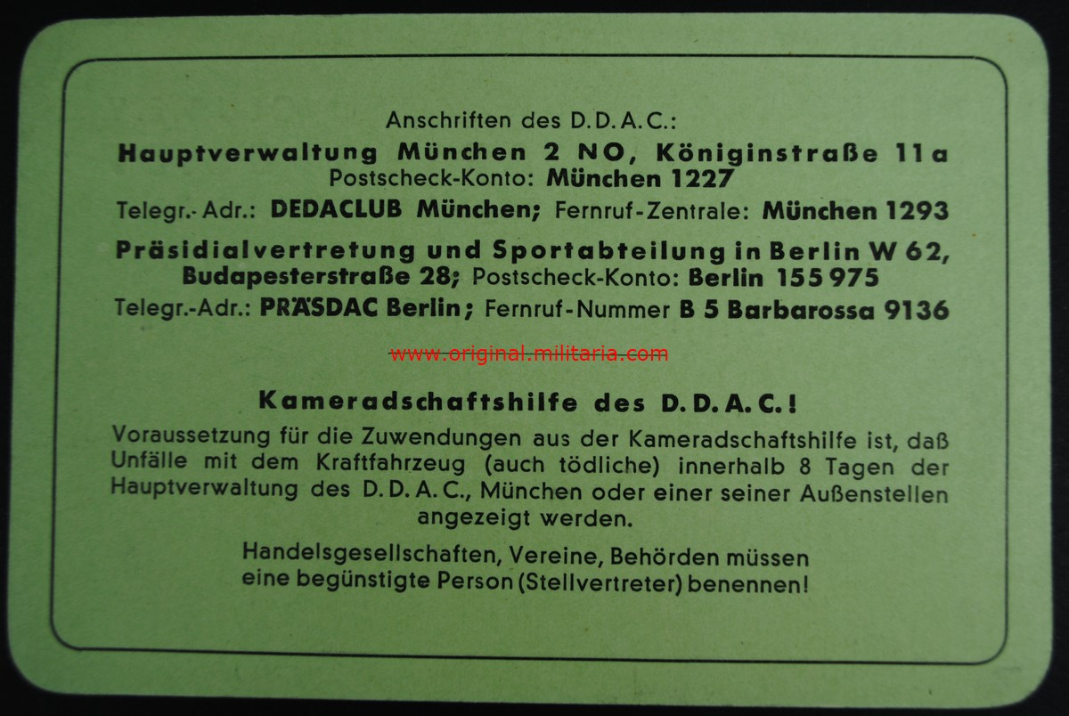 DDAC/ Carnet de Socio de Munich