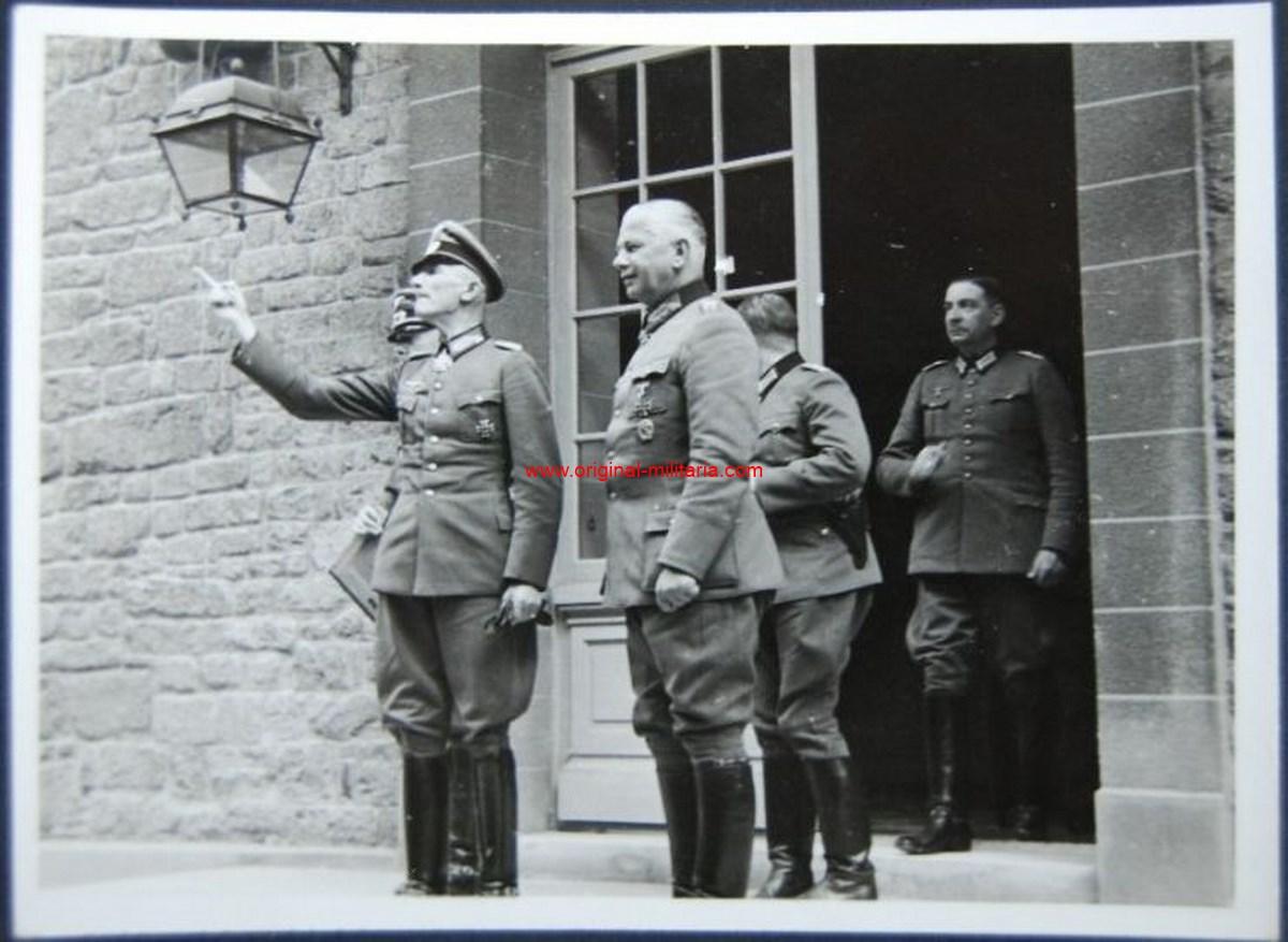 """Foto Original Privada de los Mariscales de Campo """"Reichenau"""" y """"Fedor von Bock"""""""