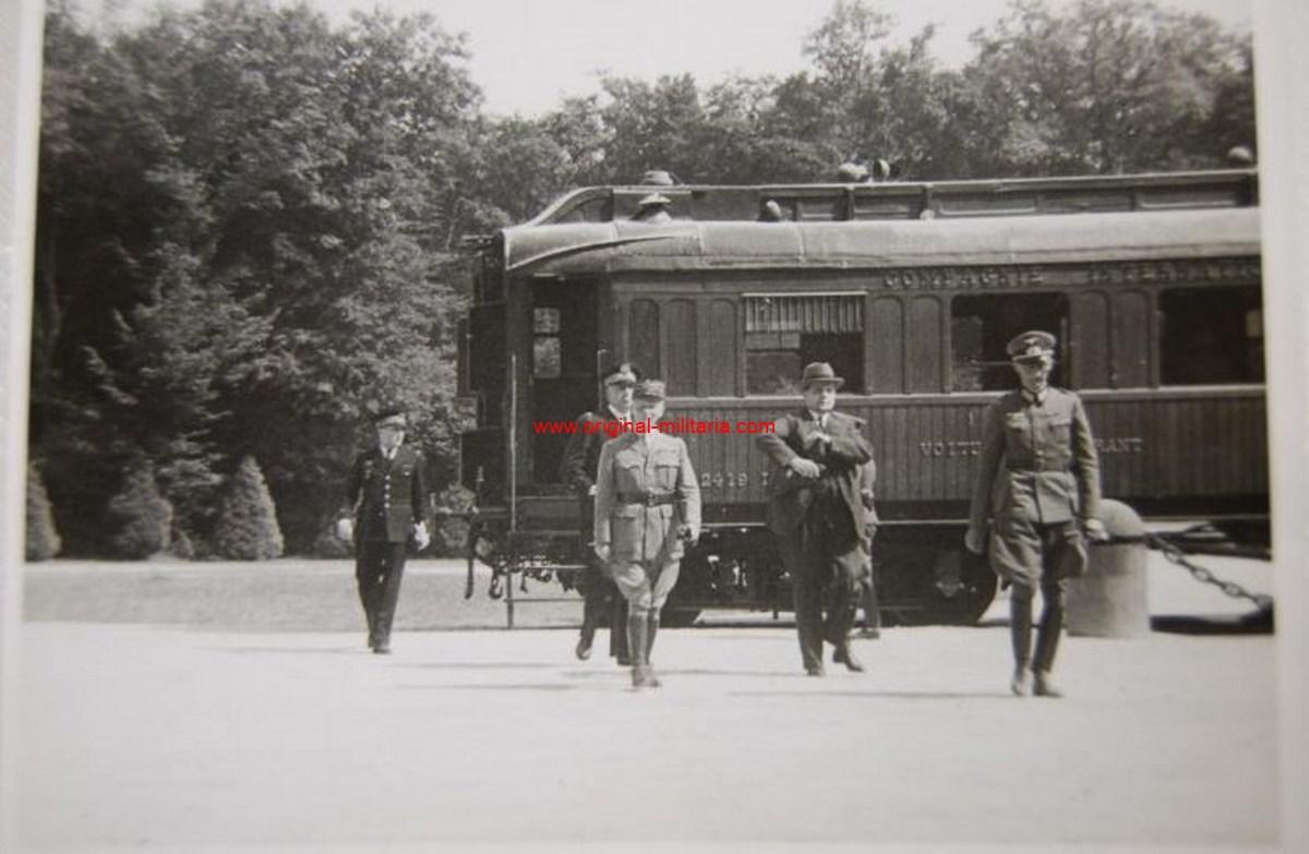Foto Privada del Vagón y Delegación Francesa del Armisticio de Francia en Compiegne
