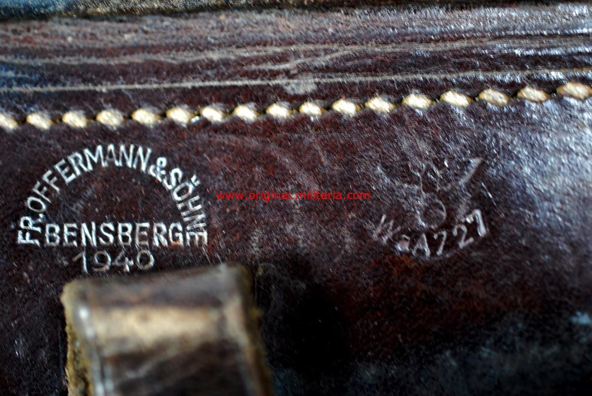 "WH/ Funda para la Pistola Luger de 1940 de ""FR. OFFERMANN & SÖHNE, BENSBERG"""