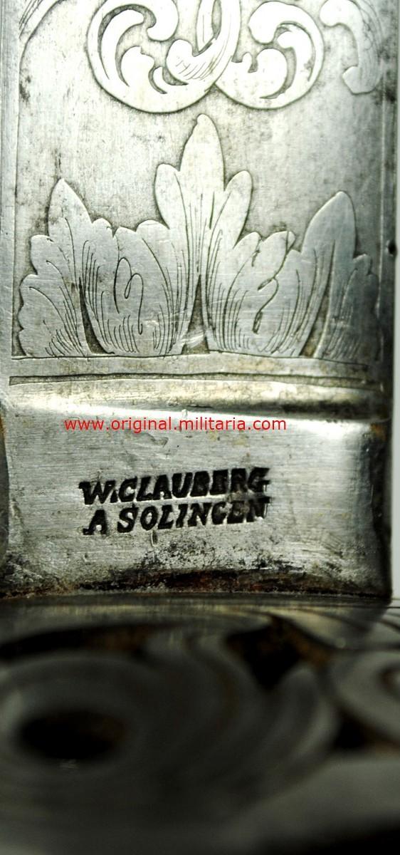 Sable de Oficial de Caballería M1840 de W. Clauberg, Solingen, Imperio Austro Húngaro