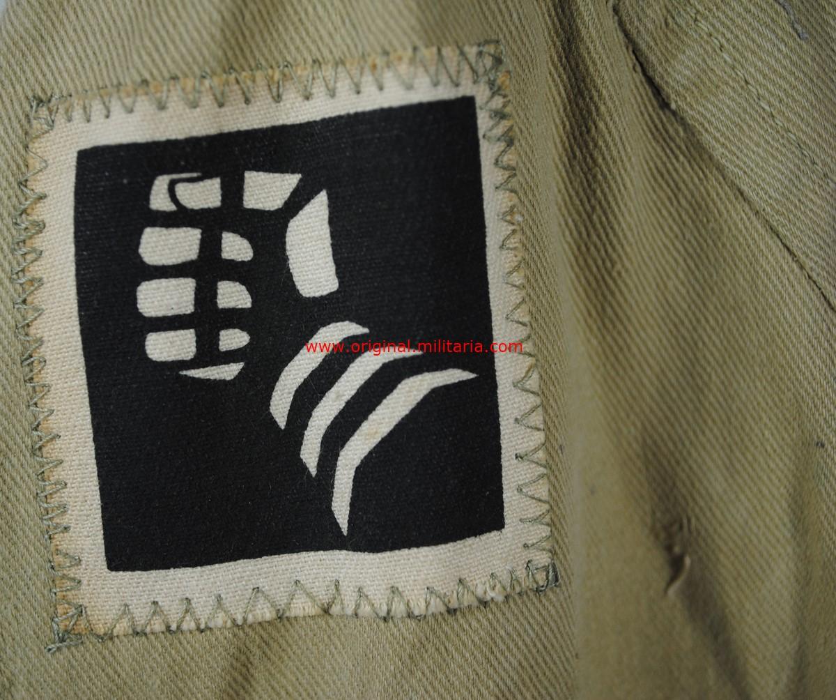 """Guerrera Tropical tipo Sahariana para un Soldado de la """"6ª División Blindada Británica"""""""
