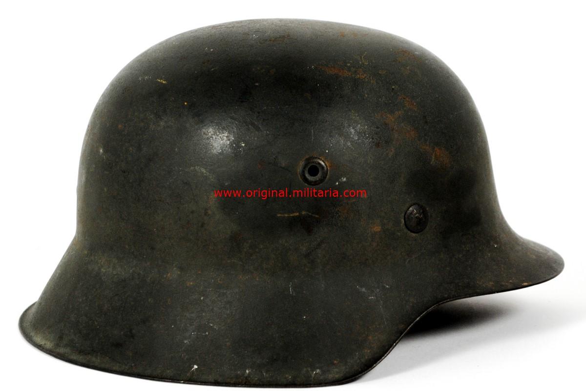WH/ Casco M42 de Combate con Calca, Sello del Fabricante