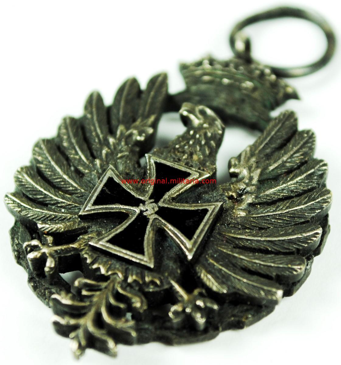 DA/ Medalla Campaña de Rusia, Modelo Alemán en 3 piezas para Oficial