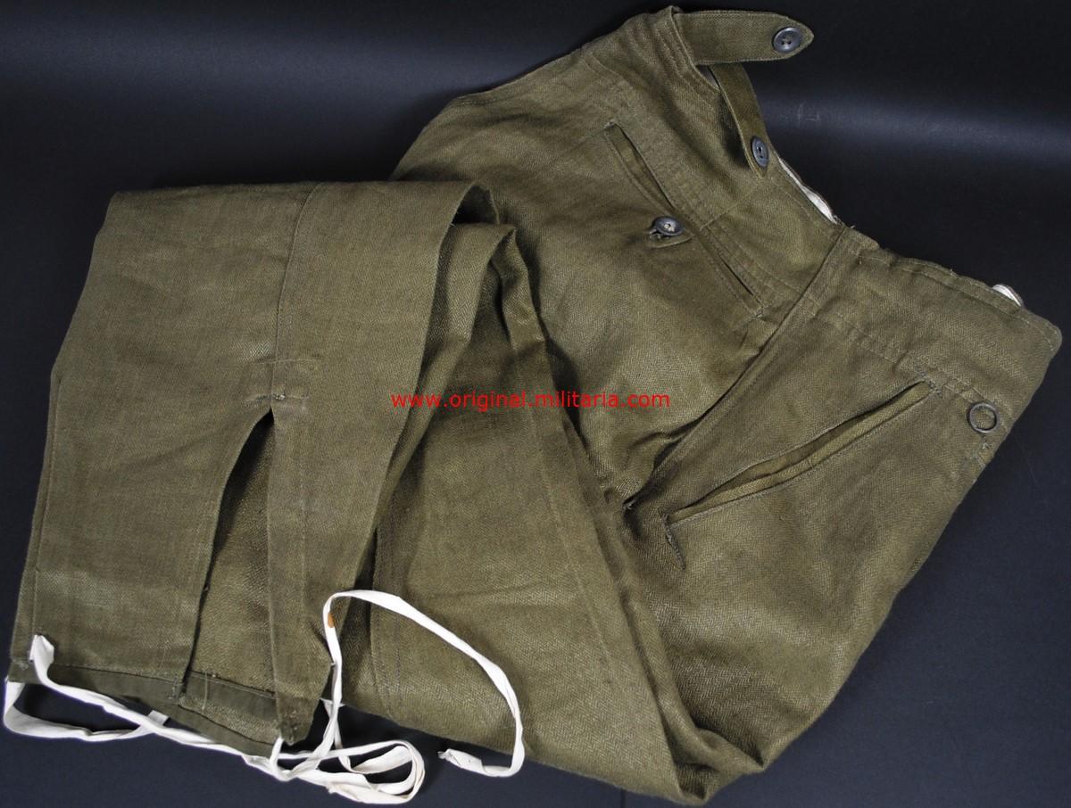 HW/LW, Raros Pantalones de Montar para Oficial y Suboficial en HBT