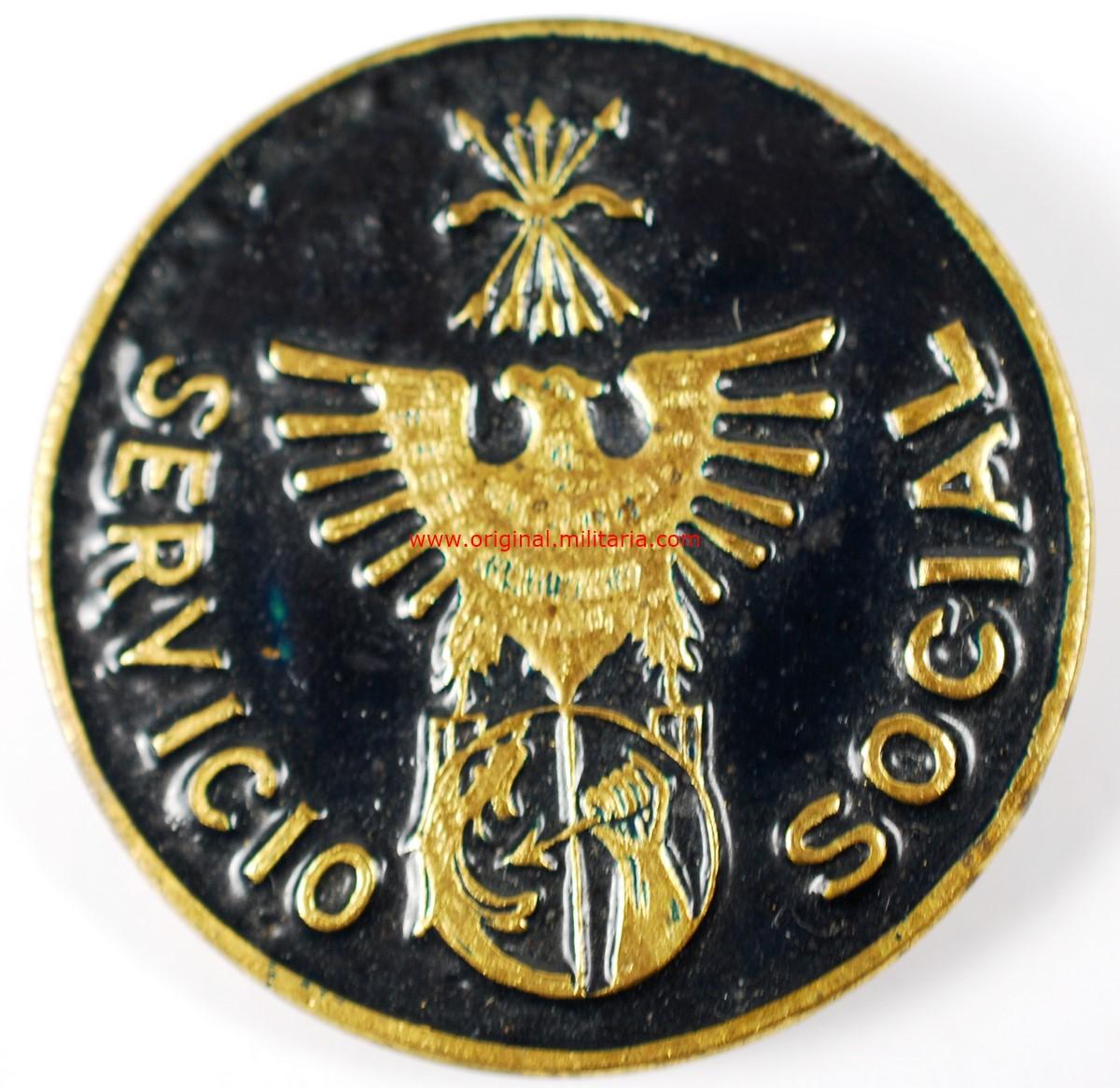 Insignia de Solapa. Auxilio Social