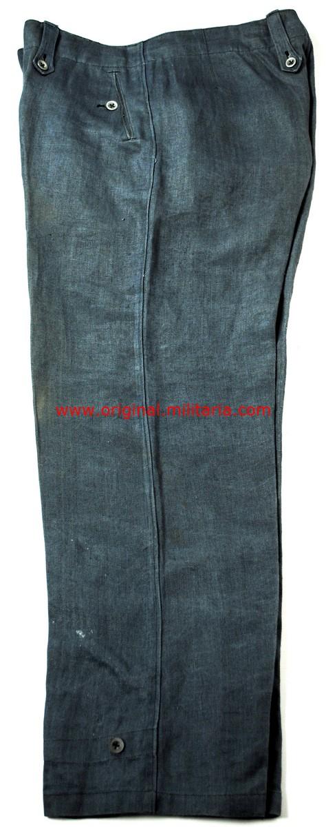 """LW/ Pantalones M40 de Combate Color Azul en HBT Marcados """"L.B.A. 1944"""""""