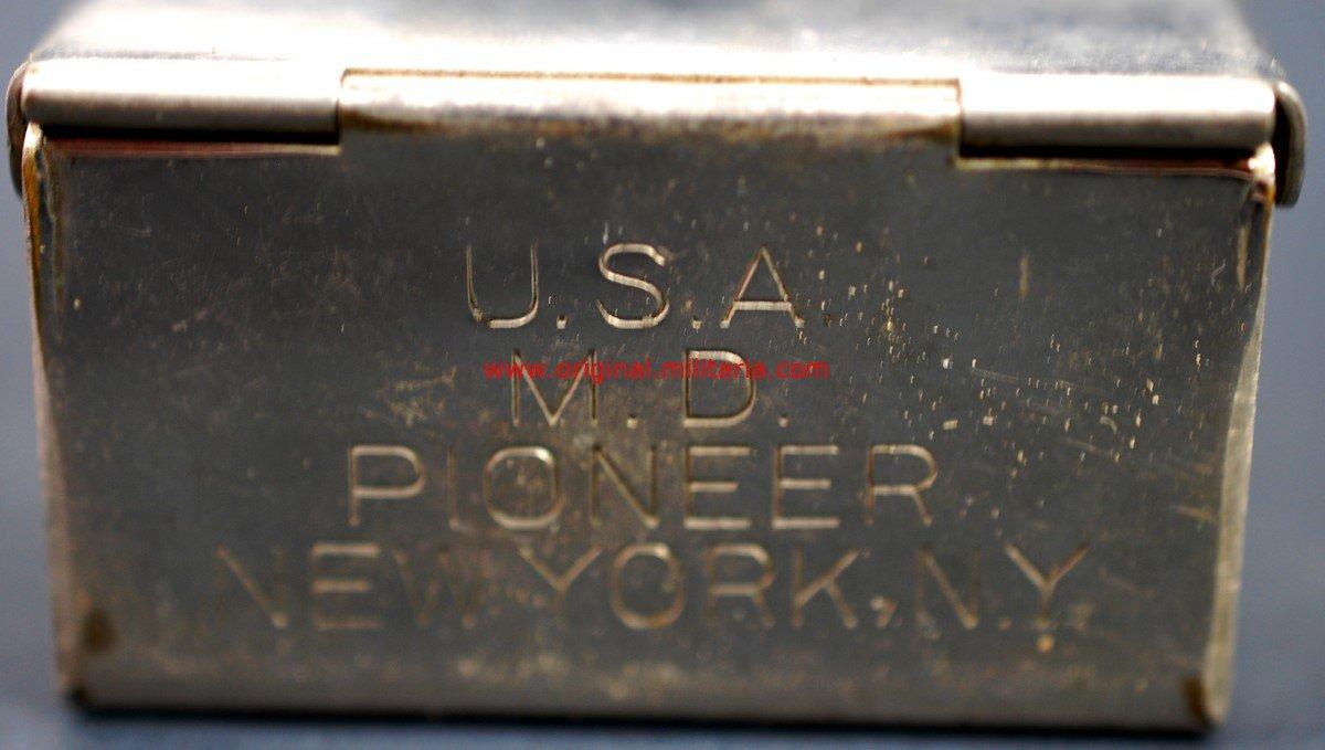 """USA WW2/ Esterilizador Médico de Campo """"U.S.A. MD Pioneer New York N.Y"""""""