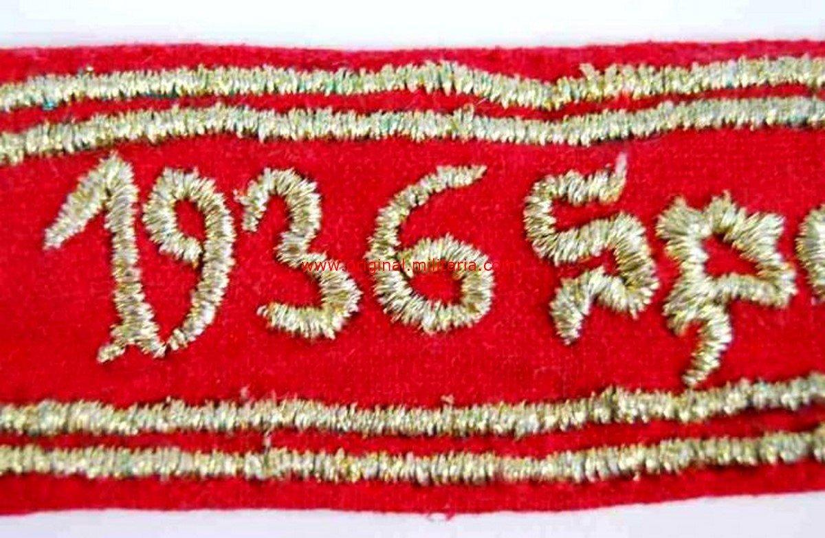 """Cinta de Bocamanga """"1936 Spanien 1939"""""""